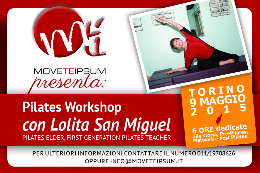 Pilates Workshop con Lolita San Miguel
